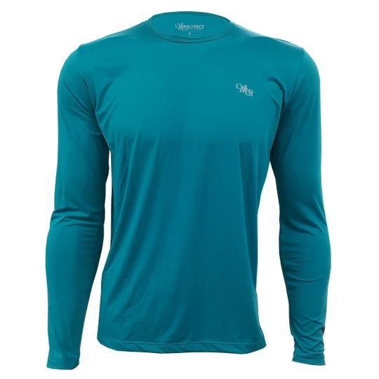 camiseta acqua light masculina longa verde